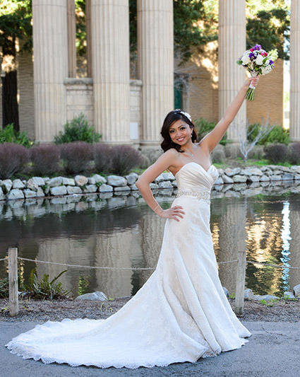 Bride at Palace of Fine Arts