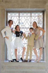 Family photo in window